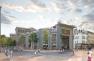 Perspective du projet : vue depuis la place Raspail