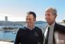 Franck Cammas Groupama Team France et Hubert Falco Président de Toulon Provence Méditerranée