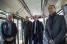 D. Pfleger( Pdt Alstom Aptis), Th. Durand (Dir Réseau Mistral), Y. Chenevard (vice-pdt TPM), H. Falco (pdt TPM)