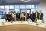 Les directeurs des pôles de l'Office de Tourisme Provence Méditerranée, autour du Président Jean-Pierre Giran et d'Hubert Falco
