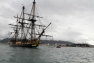 L'Hermione quitte le port de Toulon, lundi 9 avril
