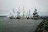 L'Hermione et flotille Medhermione à Yorktown - crédit photo Amiral Pinon