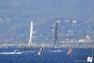 J-3: l'équipage de Groupama s'entraîne dans les eaux de la rade sur un GC32