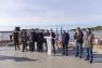 Pose premiers éléments de bois - Gare maritime-Capitainerie - Tour Fondue