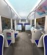 Vue intérieure du nouveau bus Hybride Gaz du réseau Mistral, design Lionel Doyen