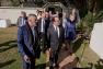 Arrivée du président de la République à la villa Noailles